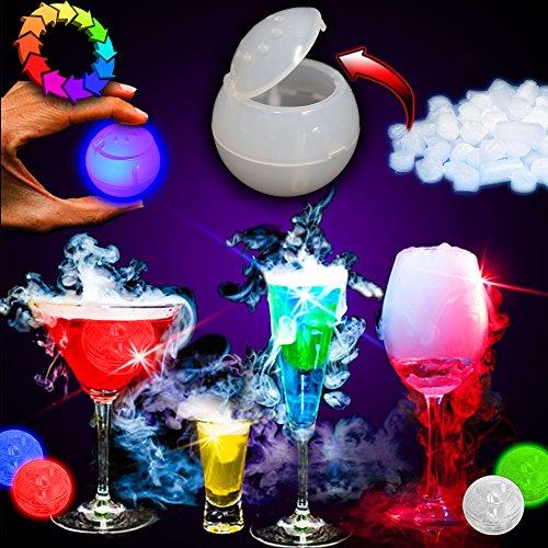 Techmeisters Trockeneisblasen, beleuchtet, kein Trockeneis, 3 Stück
