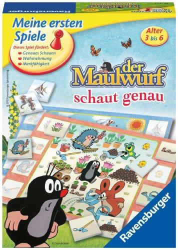 Ravensburger 22167 - Der Maulwurf schaut genau - Zuordnungsspiel für Kinder, verschiedene Spielvariationen für 1 bis 4 Spieler ab 3-6 Jahren