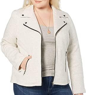 Style & Co Plus Size French-Terry Moto Jacket