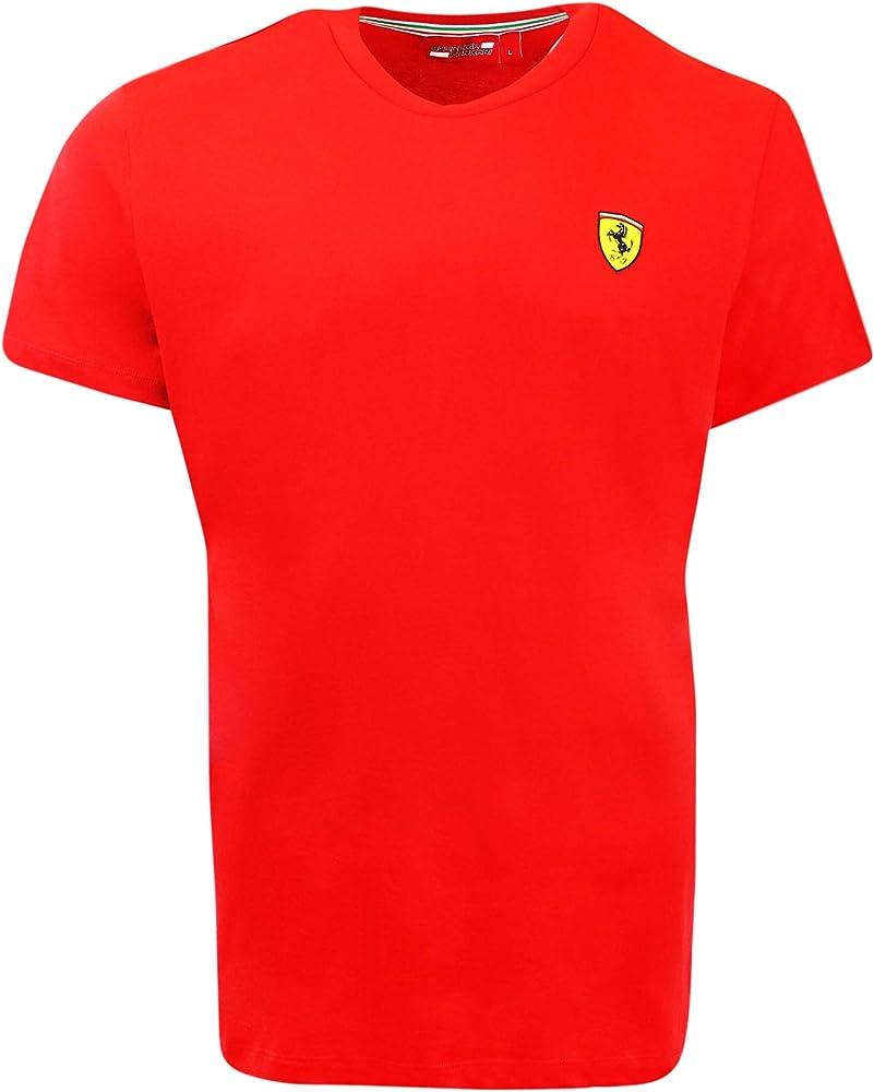 Ferrari maglietta ufficiale a maniche corte scuderia racing team f1 100 % cotone