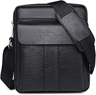ZHD&CC Bolso De Hombro para Hombre Bolsa De Crossbody De Cuero Genuino Trabajo Messenger Bag para Oficina De Negocios, Hom...