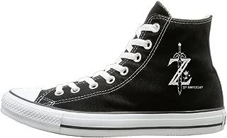 Laotan Men & Women Legend Of Zelda Breath Of The Wild High Top Sneakers Canvas Shoes Cool Sport Shoes Trucker Black