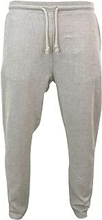 Mens Beige Cream Linen Summer Beach Trousers Elasticated Waist Tailored Fit Beige s