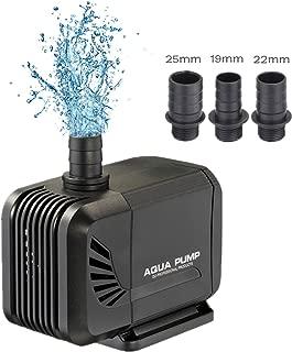YOSTAR Bomba sumergible, bomba de acuario ultra silenciosa, bomba de agua anfibia de 660 GPH 35W para acuario, estanque, pecera, hidroponía, cable de alimentación de 2M, 3 boquillas