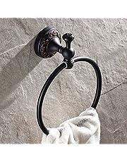 Weare Home Hoogwaardig messing scharz olie geschroven brons wandbevestiging boren retro vintage antiek design handdoekring handdoekhouder