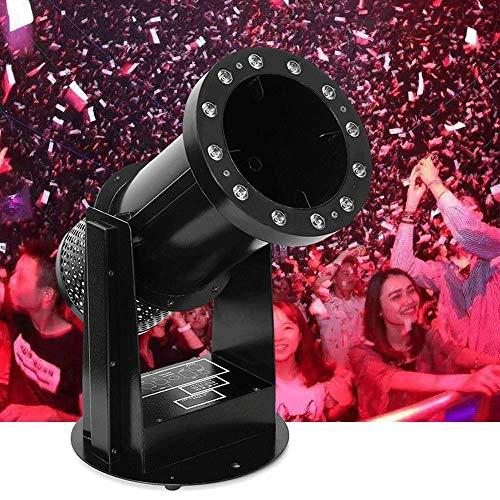 AILZNN DMX Konfetti Maschine, DJ Ereignis Konfetti Kanonen Maschinen Fernsteuerungskanonen Abschussrampe für Hochzeits Feiertags Halloween Weihnachtsstadien Effekt