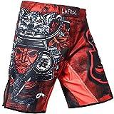 LAFROI QJK01 Pantalones cortos para hombre, con cordón y 1 bolsillo, para artes marciales mixtas, cross training y boxeo, Hombre, La Guerrera, M