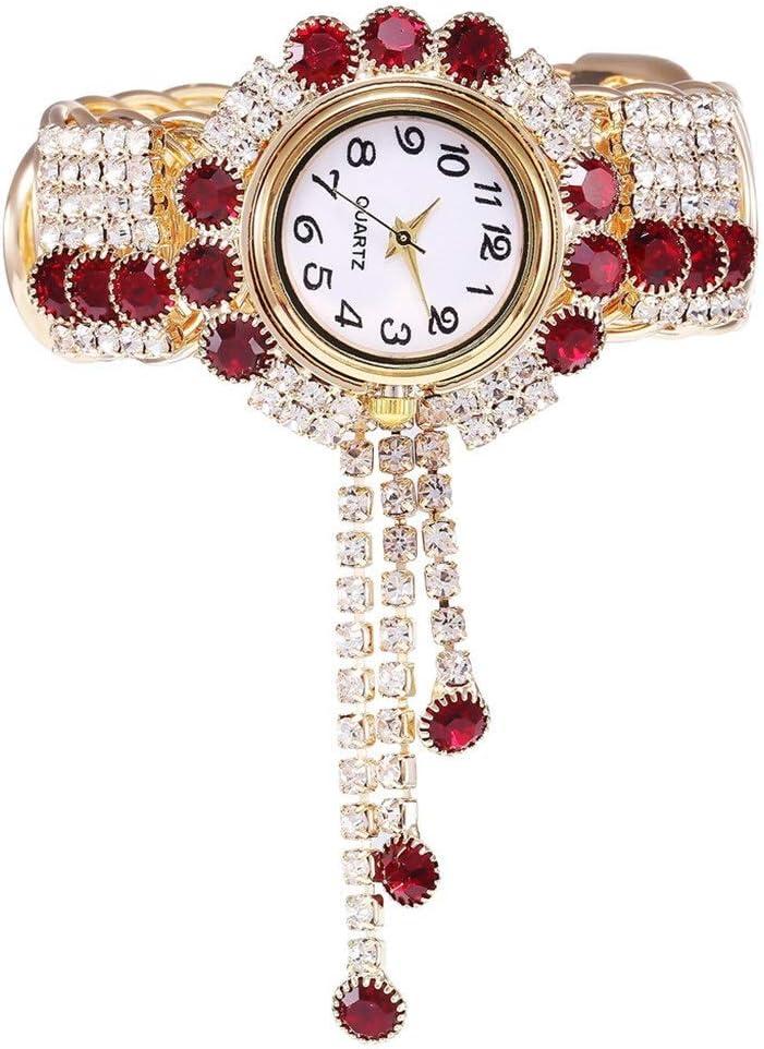 JZDH Relojes para Mujer Womens Watch Alloy Fashion Watch Creative Fringe Quartz Bracelet Models KH080 Reloj de Moda Antiguo Relojes Decorativos Casuales para Niñas Damas