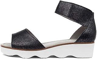 GABOR Shellie Schwarz Leather Womens Flat Sandals Summer Sandals