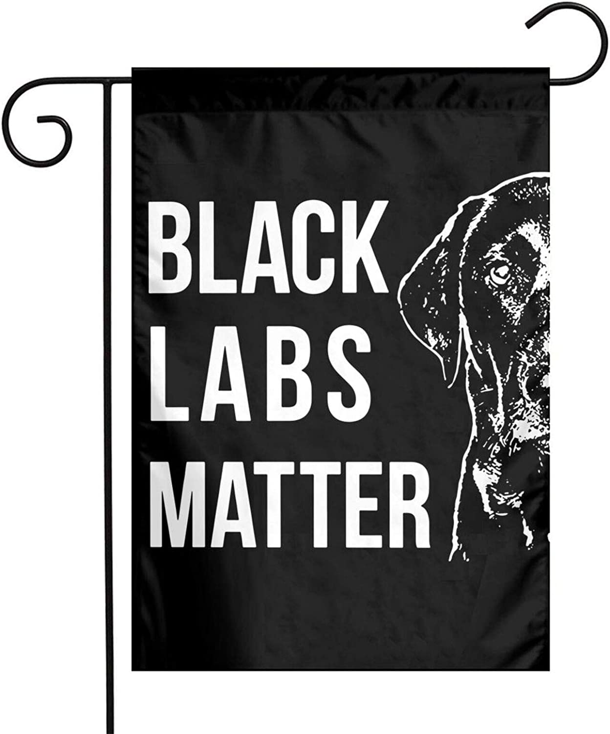 JpnvxiE Labrador Black Labs Matter Garden Flags Labrador Black Labs Matter Welcome Large Yard Double Sided House Flag Banners for Patio Lawn Home Outdoor Decor 12.5x18In