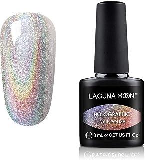Lagunamoon Rainbow Gel Nail Polish Soak Off UV LED Gel Polish-Diamond Clear