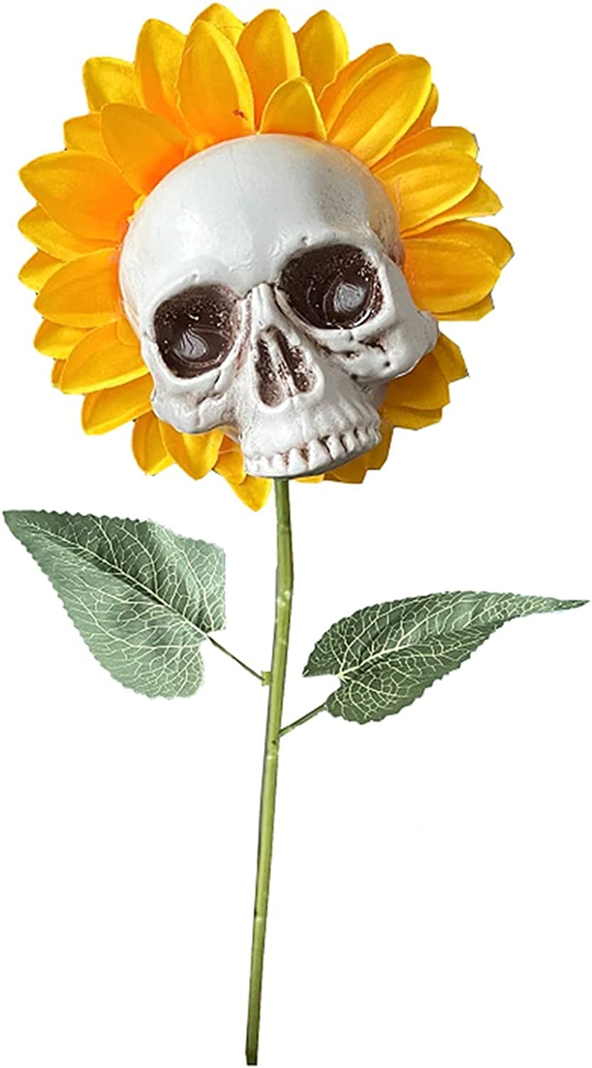 CAOMIAN Sunflower Skull 5% OFF Halloween Special price for a limited time Decoration G Flower Simulation
