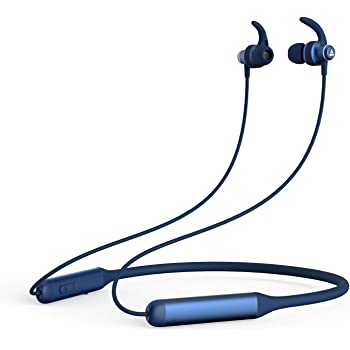 boAt Rockerz 335 Wireless Neckband with ASAP Charge, Up to 30H Playback, Qualcomm aptX & CVC, Enhanced Bass, Metal Control Board, IPX5, Type C Port, Bluetooth v5.0, Voice Assistant(Navy Blue)