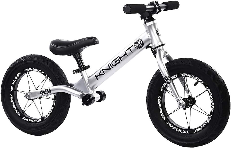 estar en gran demanda FJ-MC 12  Bicicleta de Equilibrio, Marco Marco Marco de aleación de Aluminio, Unisexo Sin Pedal Bicicleta de Entrenamiento para Caminar, para Niños de 2 a 6 años y Niños pequeños,plata  calidad fantástica