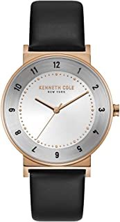 Kenneth Cole Men's Silver Dial Leather Band Watch - KC50074003