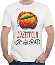 STONSTAIN Men Led Zeppelin Celebration Day Classic Party White 6XL Short Sleeve T-Shirts