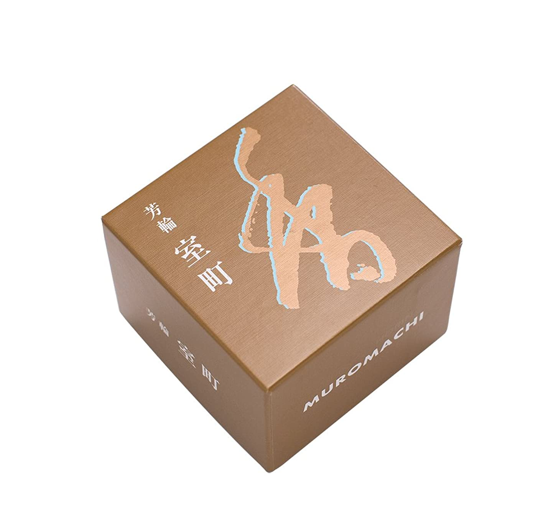 コール露松栄堂のお香 芳輪室町 渦巻型10枚入 うてな角型付 #210421