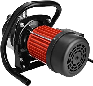 1200W 1.6HP Shallow Well Sump Pump, Portable Stainless Steel Lawn Sprinkling Pump Water Pump for Garden Irrigation and Pressure Booster