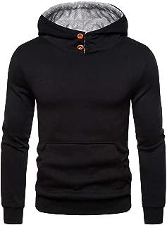 LUCAMORE Men's Autum Winter Pullover Hoodie Long Sleeve Hooded Sweatshirt Outwear Tops Blouse