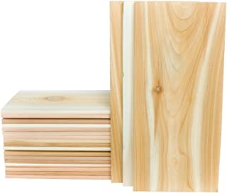 XL Large Cedar Grilling Planks (20 Pack) - 7x15 - Fits Full Filet of Salmon + Free Recipe eBook