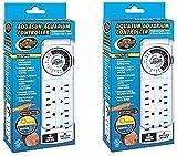 (2 Pack) Zoo Med AquaSun Aquarium Controller Timer & Power Strip
