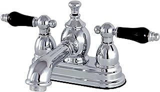 """Kingston Brass KS7001PKL ss 4-inch Centerset Lavatory Faucet with Brass Pop-Up, 4-1/2"""", Polished Chrome"""