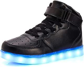 [HAIBON] スニーカー LEDシューズ 男女兼用 光る靴 USB充電可能 発光靴 LEDシューズ 子供のブーツ 親子スニーカー