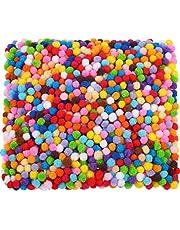2000 Piezas 6 mm de Pompones para Manualidades, Materiales de Gustos y DIY Decoraciones de Artesanía Creativa (Multicolor)