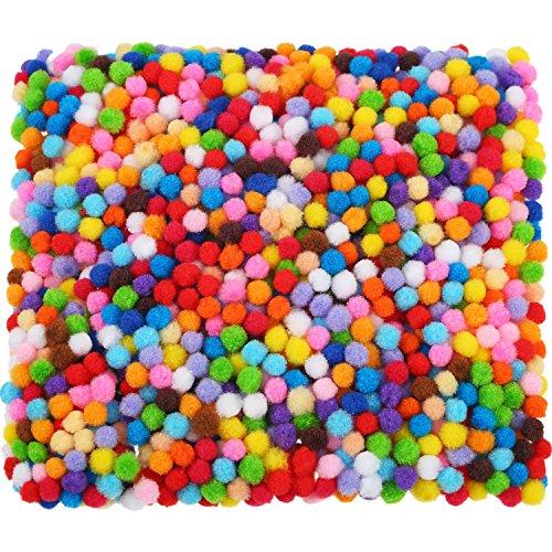 2000 Stück 6 mm Pom Poms für Handwerk Herstellung, Hobby Bedarf und DIY Kreativen Handwerk Dekorationen (Mehrfarbig)