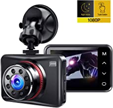 """$42 » Dash Cam, Ainhyzic 1080P Dash Camera for Cars, 2.7"""" Touch Button Screen Car Driving Recorder with 170° Wide Angle and Infrared Night Vision, Motion Detection, G Sensor, Loop Recording, Parking Monitor"""