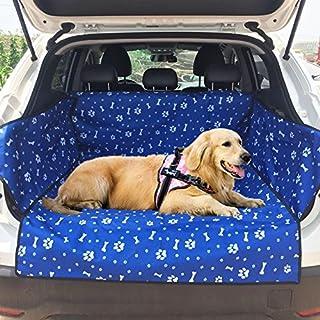 Waterproof Dog Car Seat Cover Cargo Liner Rear Bench Nonslip Rubber Universal Design for Cars SUVs Trucks Durable Black Pe...