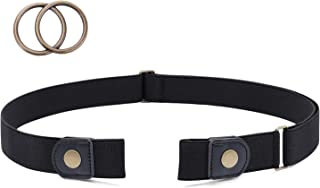 No Buckle Stretch Belt for Women Buckle Free Cloth Belt with Double O Ring Buckle