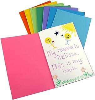 كتب فارغة ملونة من هاي جلوس - كتب للمجلة والرسم والكتابة والمزيد - رائعة للفنون والحرف اليدوية - 10 ألوان مشرقة متنوعة ومر...
