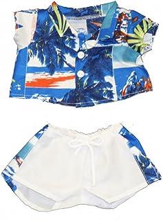 "20060-Hawaiian Shirt & Shorts Clothes for 14"" - 18"" Stuffed Animals and Dolls"