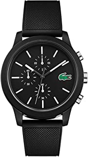 Lacoste Black Mens Quartz Watch, Analog Display and Silicone Strap 2010972
