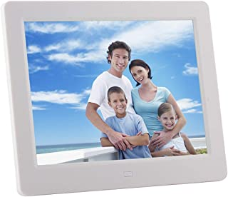 Black Lihuoxiu Consumer Electronics 14-inch Digital Photo Frame Electronic Photo Frame Ultra-Narrow Side Support 1080P Wall-Mounted Advertising Machine Color : White