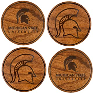 Michigan State University Wooden Coasters Variety Pack