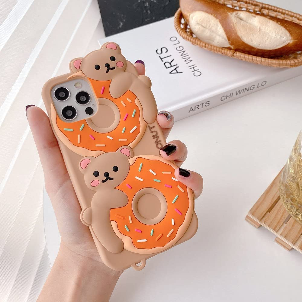 3D Cute Cartoon Bear for iPhone 12 Directly managed store Be Max Limited price Mini XS XR Pro 11