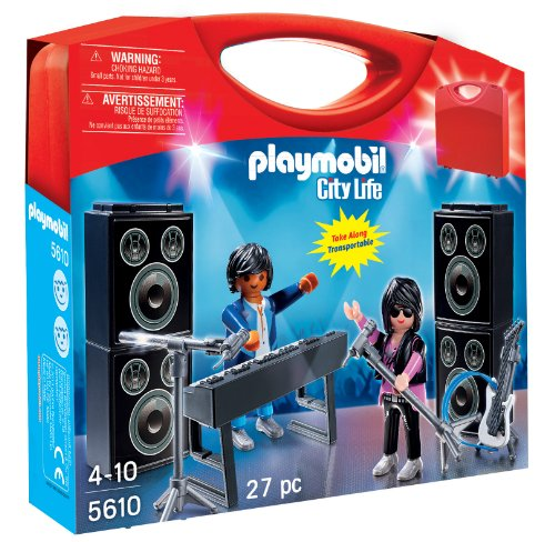 Playmobil City Life Carry Case 5610 - transportabler Koffer - Musik Band
