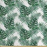 ABAKUHAUS Blatt Gewebe als Meterware, Palm Mango