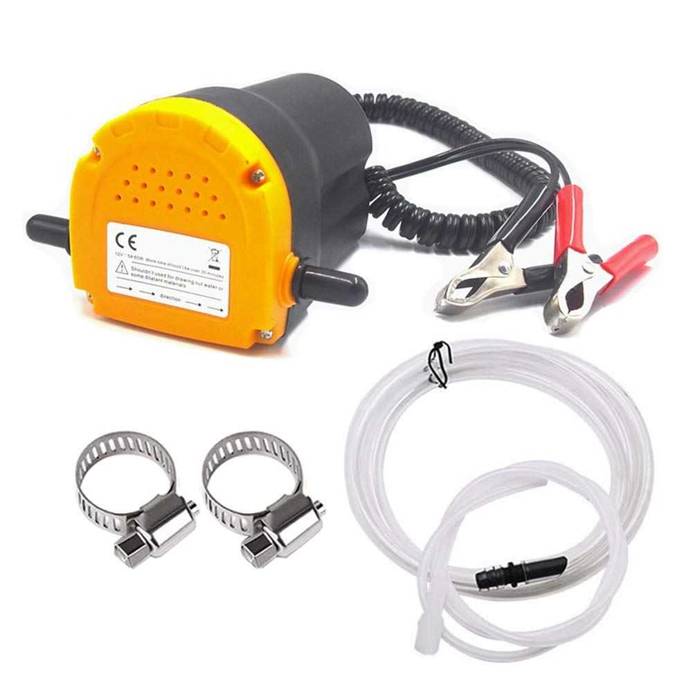 Great Choice for Oil Changes in Car THINKWORK Oil Change Pump Extractor Motorcycle 12v 80w Marine Oil Change Pump and Electric Oil Pump Truck Ship