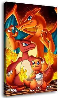 Dracaufeu mejores Pokemon Art Toile Poster Art Mural Art Print Moderne Famille Chambre Décor Posters