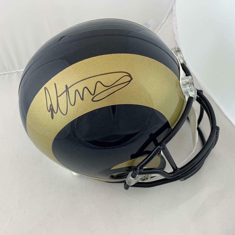 Todd Gurley Signed Helmet  Full Size Replica Beckett Witness Coa  Beckett Authentication  Autographed NFL Helmets