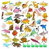 52 Piezas Animales Marinos,Animales de Juguete,Mini Juguetes de Figuras de Insectos de Plstico,para Nios, Nias, Nios Pequeos, Bolsas de Fiesta, Regalos, Premios, Juguetes