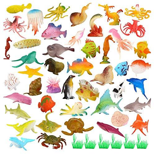 52 Pezzi Animali Giocattolo,Mini Figure di Insetti in Plastica Giocattoli,per Ragazzi, Ragazze, Bambini, Bambole, Borse da Viaggio, Regalo, Premio, Giocattolo