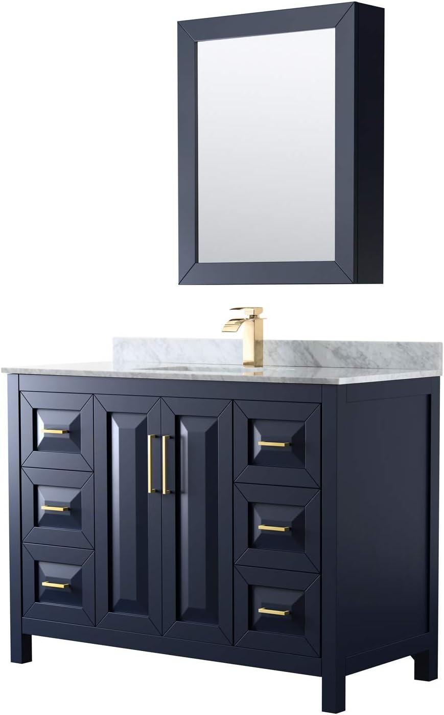Daria 48 Inch Single High quality new Bathroom Vanity Max 68% OFF Blue Carrara in White Dark