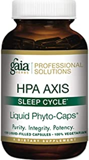 Gaia Herbs Professional Solutions HPA Axis Liquid Capsules, Sleep Cycle, 120 Count