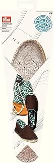 PRYM Espadrille Soles UK 5, EU Size 38 Woven Straw/Jute with Rubber Base x 1 Pair, Natural, 11x3x30 cm