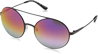 bd72316d7 Michael Kors Women's Cabo 1169A9 55 Sunglasses,  Black/Fuchsiatopurplegradientmir