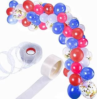 Garland Balloon Arch Kit DIY   White Balloons W/Red, Blue, ETC   110 Pieces   Birthday, Graduation, Wedding, Military Ceremony, Celebration   Party Decorations   Balloon Tape Strip   Dot Glue Tape